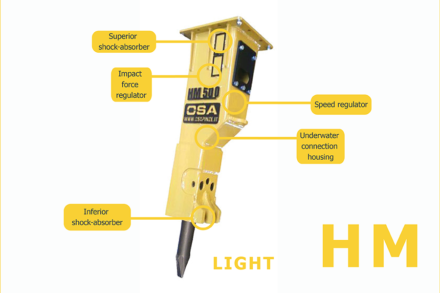osa hydraulic breakers have innovative and avant-garde characteristics to  meet the requests of a more and more exigent market
